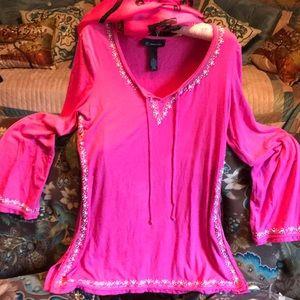 IINC tunic pink top sz large